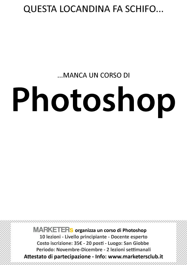 corso photoshop marketers club