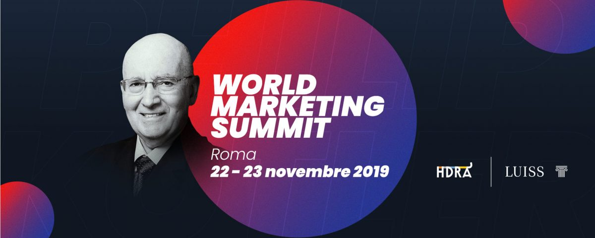 Philip Kotler world marketing summit 2019 Roma